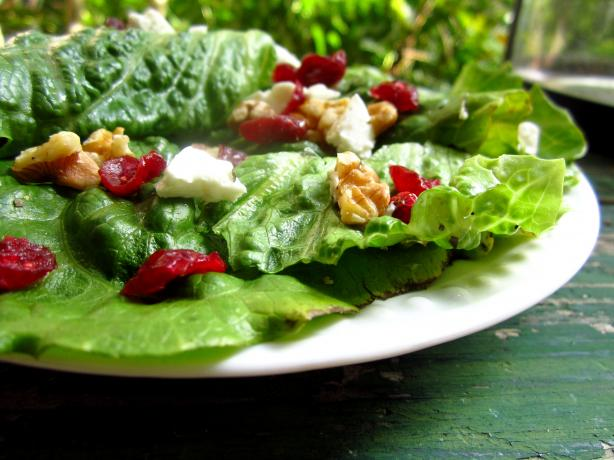 Spring Mix With Walnuts, Cranberries and Goat Cheese