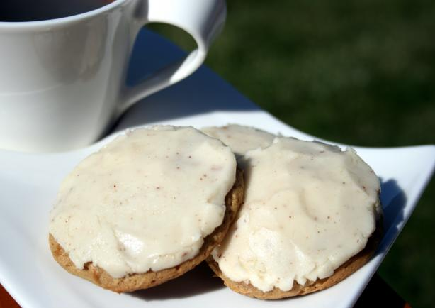 Frosted Butterscotch Cookies