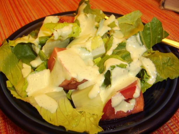 Bibb Salad With Basil Green Goddess Dressing
