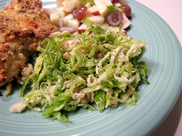 Shaved Brussels Sprout Slaw With Walnuts and Romano