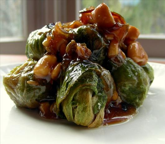Brussels Sprouts and Walnuts With Fennel and Shallots