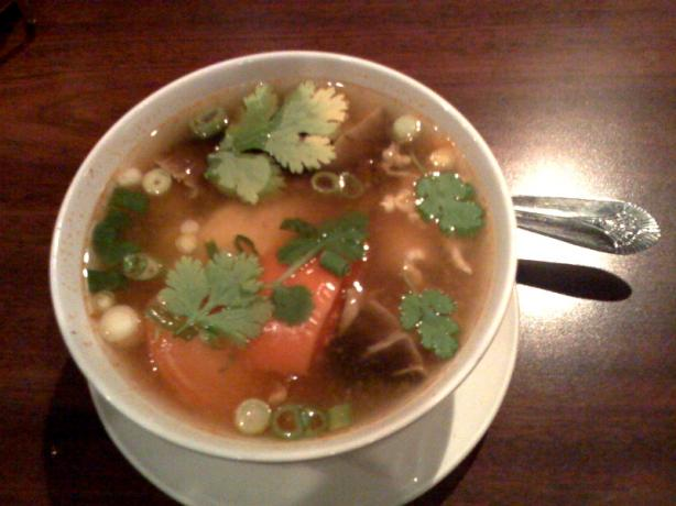 Tom Yum Gai (Thai Hot & Sour Chicken Soup)