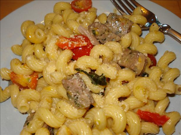 Chicken Sausage Pasta With Basil and Wine
