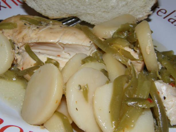 Simple Crock Pot Chicken With Green Beans