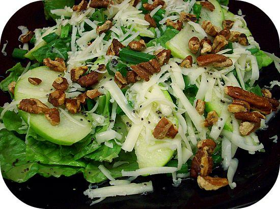 Apple and Toasted Pecan Salad With Honey Poppy Seed Dressing