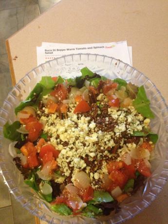 Buca Di Beppo Warm Tomato and Spinach Salad