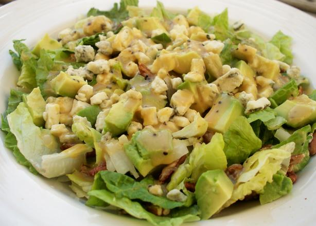 Blue Cheese-Pecan-Avocado Salad With Honey Mustard Vinaigrette