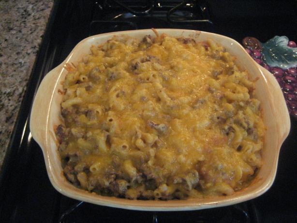 Italian Cheddar Bake (Macaroni & Cheese Casserole)