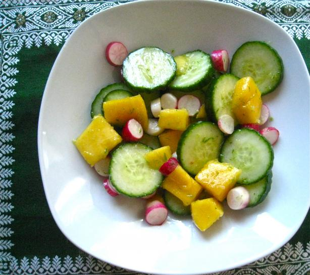 Mango & Radish Salad With Lime Dressing