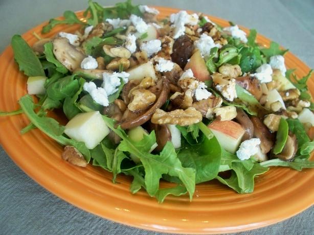 Mushroom, Apple, and Goat Cheese Salad