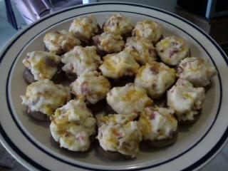 Bacon Cream Cheese Stuffed Mushrooms