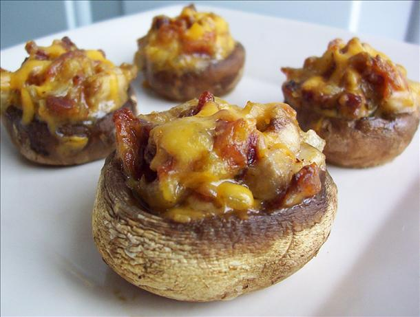 Make Ahead Bacon and Cheddar Stuffed Mushrooms