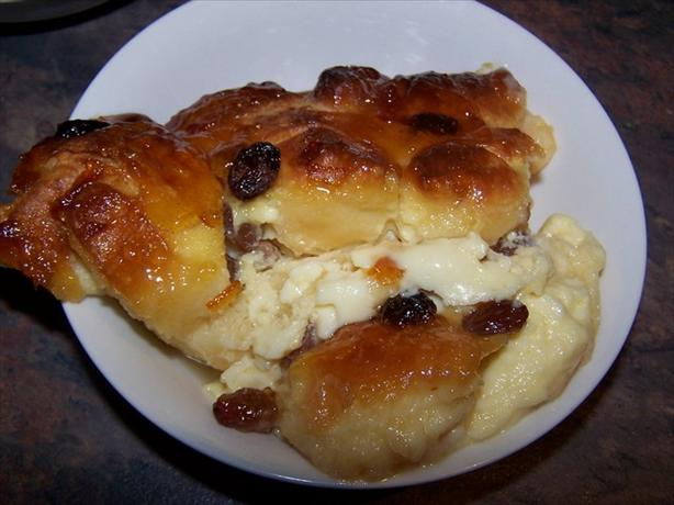 Marmalade-Glazed Croissant Pudding