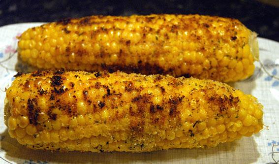 Corn on the Cob in a Garlic Butter Crust