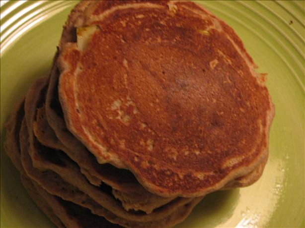 Whole Wheat Cinnamon Apple Pancakes