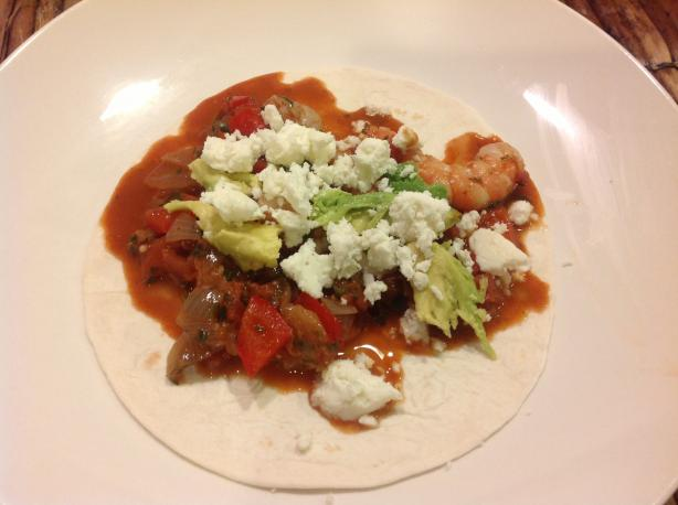 Enchilado De Camerones (Shrimp in Red Pepper Sauce)