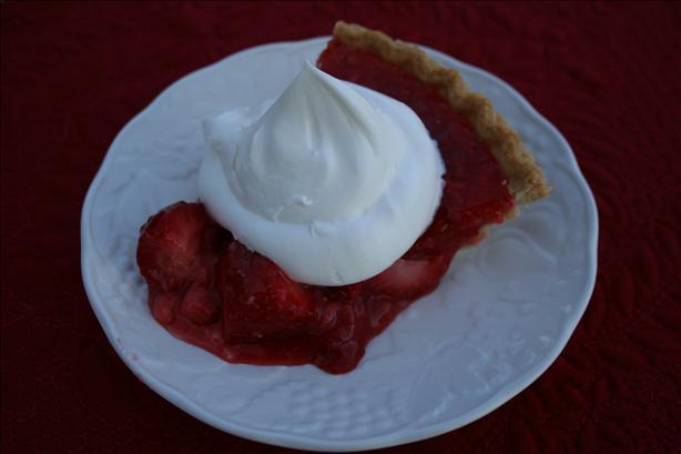 Fresh Strawberry Pie Ala Rose