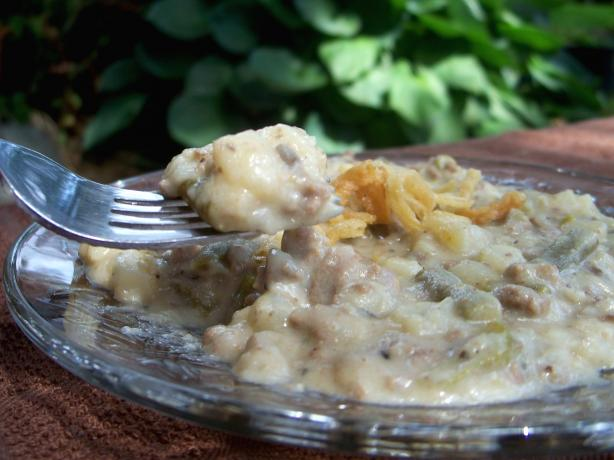 Slow Cooked Meat and Potato Casserole