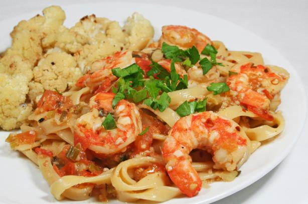Easy Spicy Shrimp Pasta - Low Fat