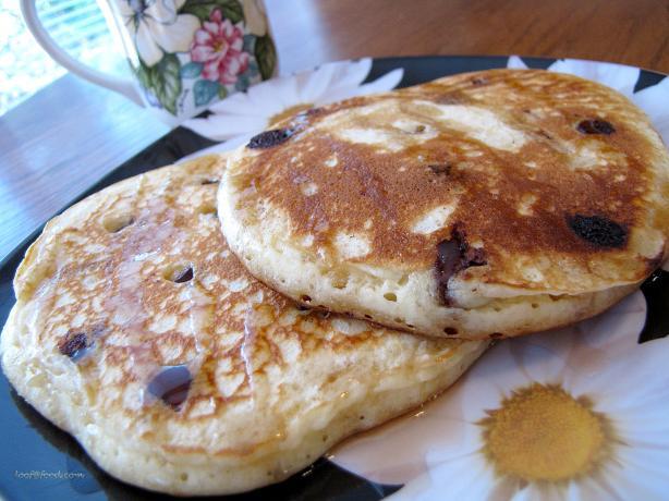 Orange White Chocolate Chip Pancakes