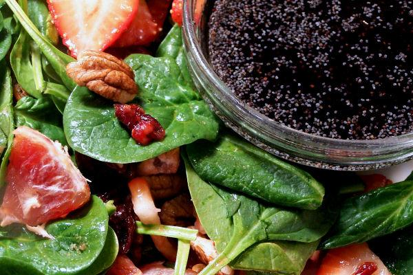 Strawberry Spinach Salad W/Raspberry-Key Lime Vinaigrette