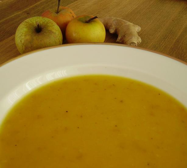 Ginger-Scented Apple Squash Soup