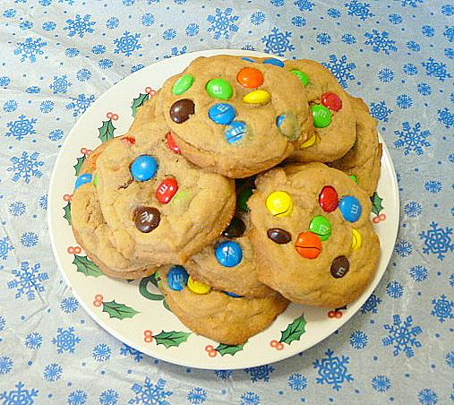 Soft and Chewy M&m Cookies