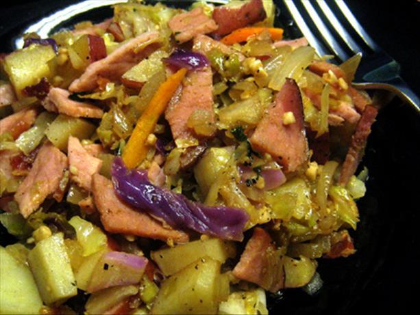 Leftover Ham & Cabbage Casserole