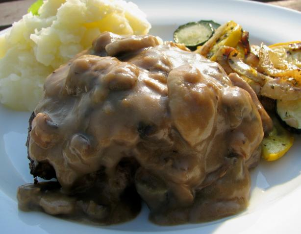 Salisbury Steak With Mushroom Sauce for 2