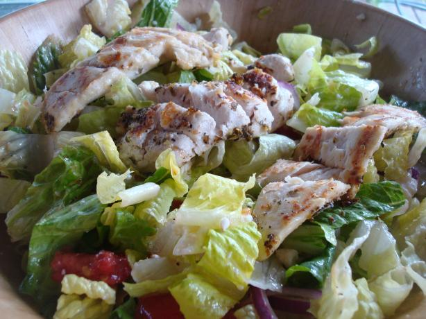 Greek Salad With Oregano Marinated Chicken