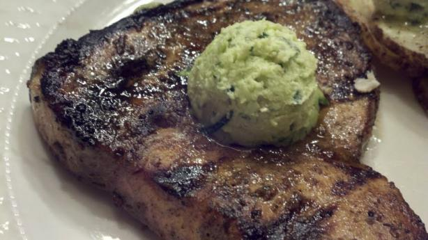 Grilled Marinated Swordfish Steaks With Avocado Butter
