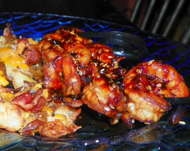"Honey Sesame Shrimp ""on the Barbie"""