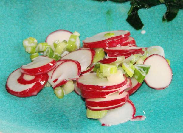 Radish & Scallion Salad