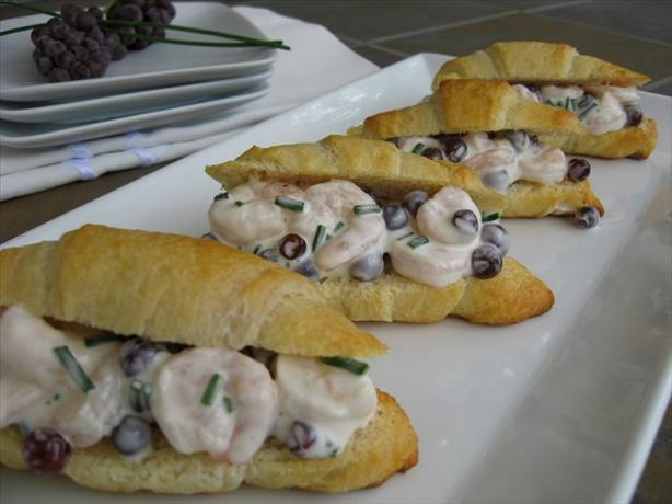Champagne Grape and Shrimp Salad Sandwiches