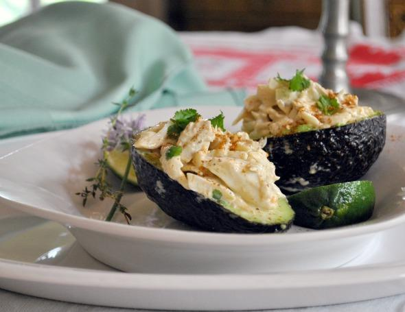 Crab Salad in Avocado Halves