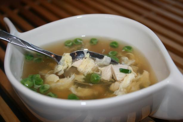 Egg Drop Soup With Chicken - 2 Ww Pts.