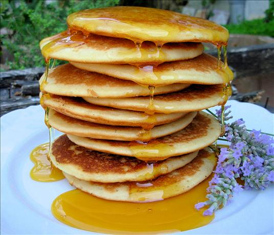 Auberge French Lavender Pancakes With Lavender Honey