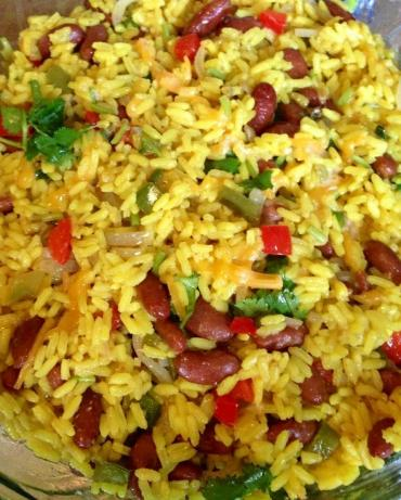 Mexican Yellow Rice and Black Beans