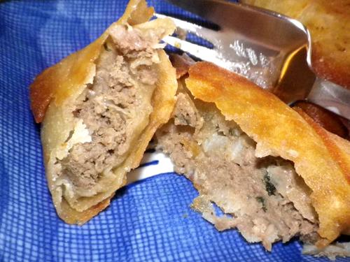 Beef Wonton Samosas