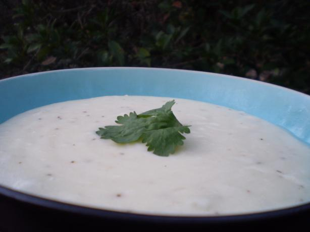 Creamy Potato Soup With Onion