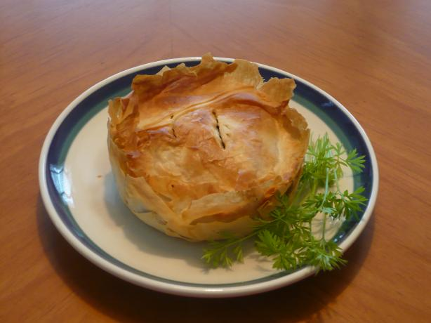 Kreatopita (Greek Meat Pie Using Phyllo Pastry)