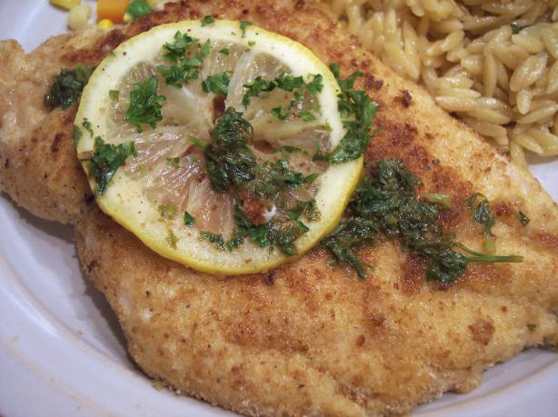 Chicken Scaloppine With Lemon Glaze (Low Fat and Delicious!)