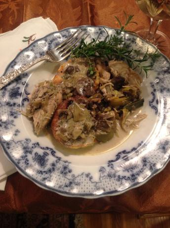 Crock Pot Chicken With Mushrooms and Leeks (Low Carb)