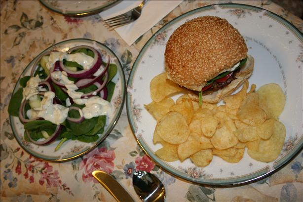 Danish Burgers W/ Herb Caper Sauce and a Mod Salad