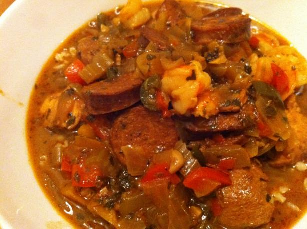 Slow Cooker Chicken & Sausage Gumbo