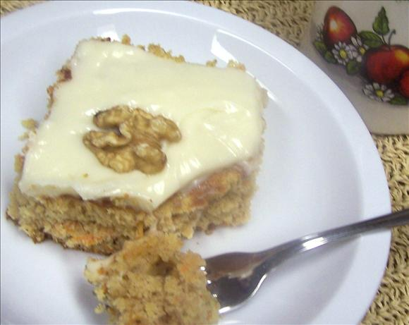 Low-Fat Carrot Cake With Cream Cheese Frosting