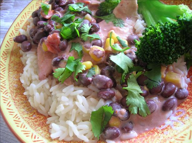 Crock-Pot Chicken With Black Beans & Cream Cheese...yum!