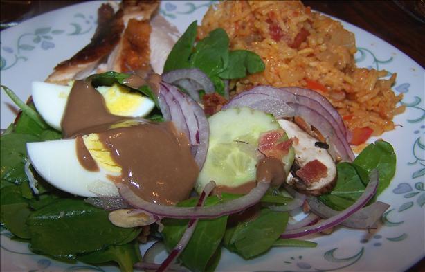 Kittencal's Spinach Salad With Balsamic Honey-Dijon Vinaigrette
