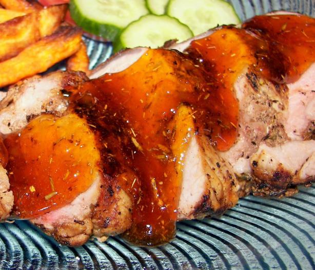 Apricot-Ginger Pork Tenderloin