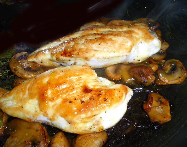 Mushroom Chicken With Honey Mustard